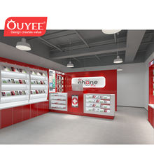 Fancy Shop Fitting Mobile Shop Interior Design Display Unit Mobile Phone Shop Names with Mobile Counter