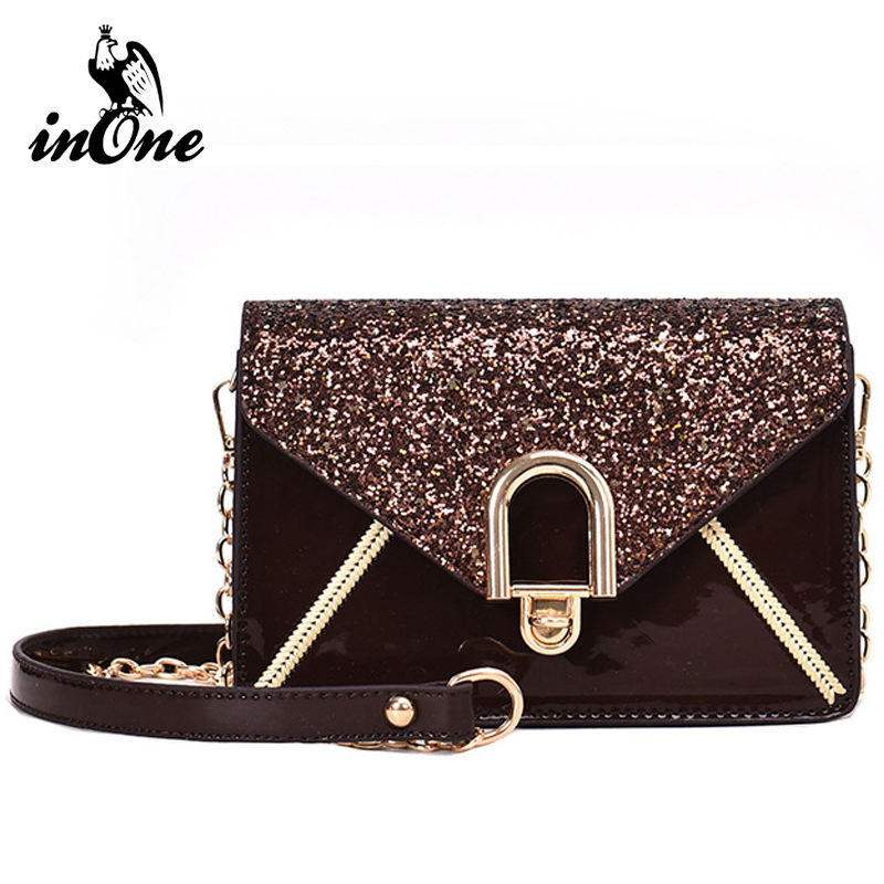 Ladies Fashion Sequined Stitching Bag Crossbody Shoulder Bags for Women Purses Handbags Travel Small Purse