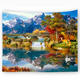 New Stylish Custom Silk Wall Made Tapestry