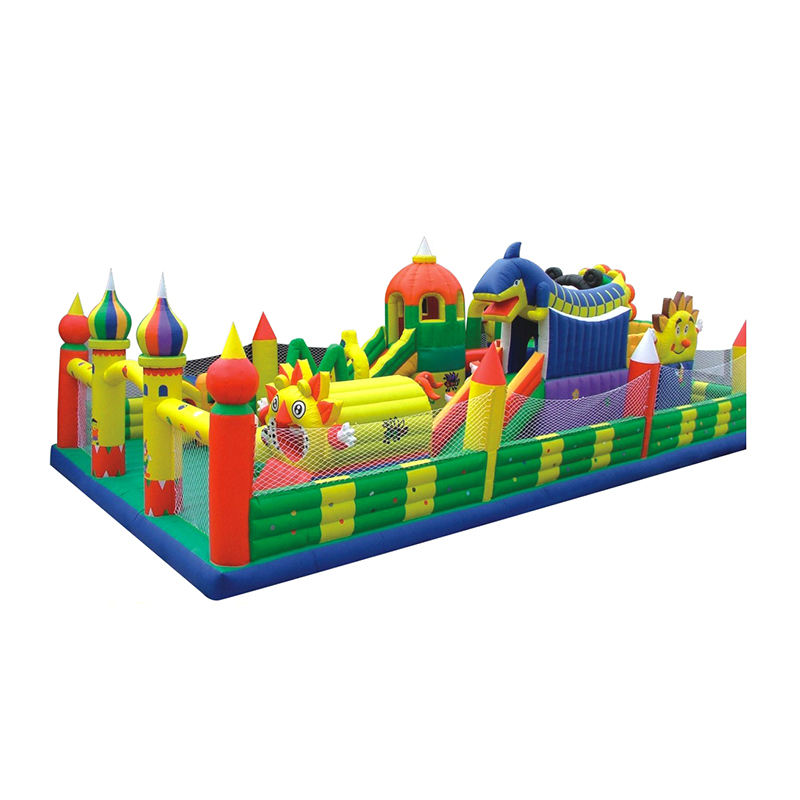 Export Trade Inflatable Jumping Castle Trampoline Amusement Park Toys For Children