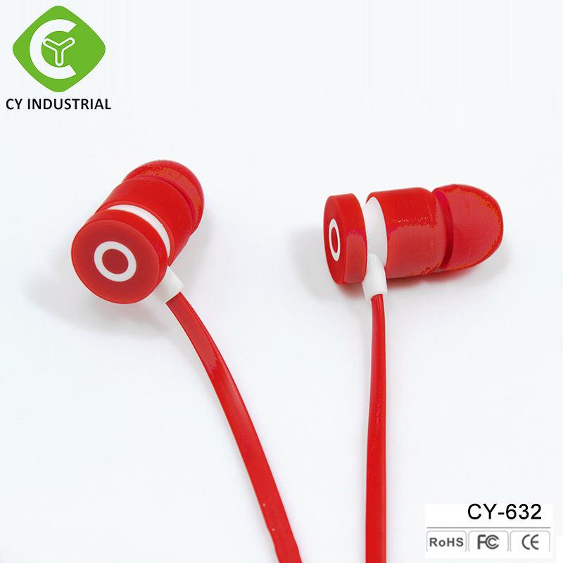Comercio al por mayor profesional de diseño de moda OEM con cable en la oreja los auriculares, 3.5mm auriculares estéreo de auriculares para iphone android