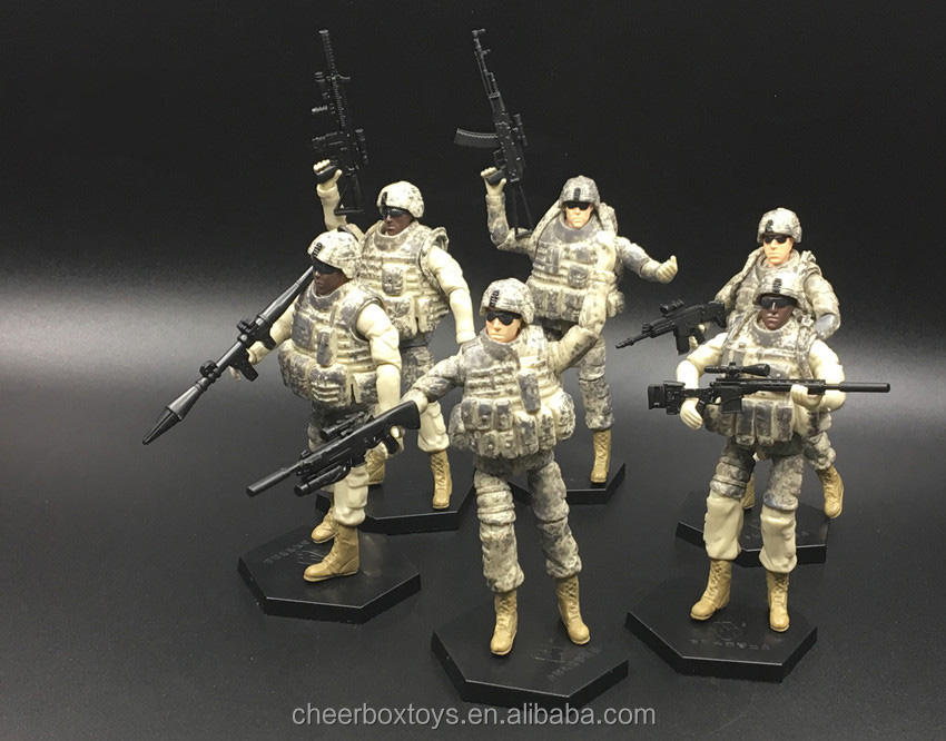 USA 101 Airborne Troops 6 Assembly Soldier Figure Models