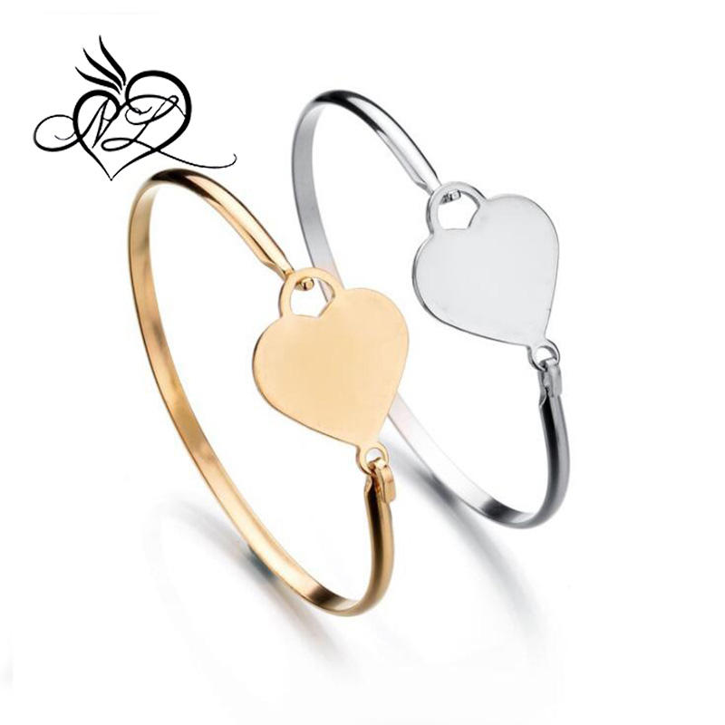 Grosir Stainless Steel <span class=keywords><strong>Desain</strong></span> Open Heart Bangle