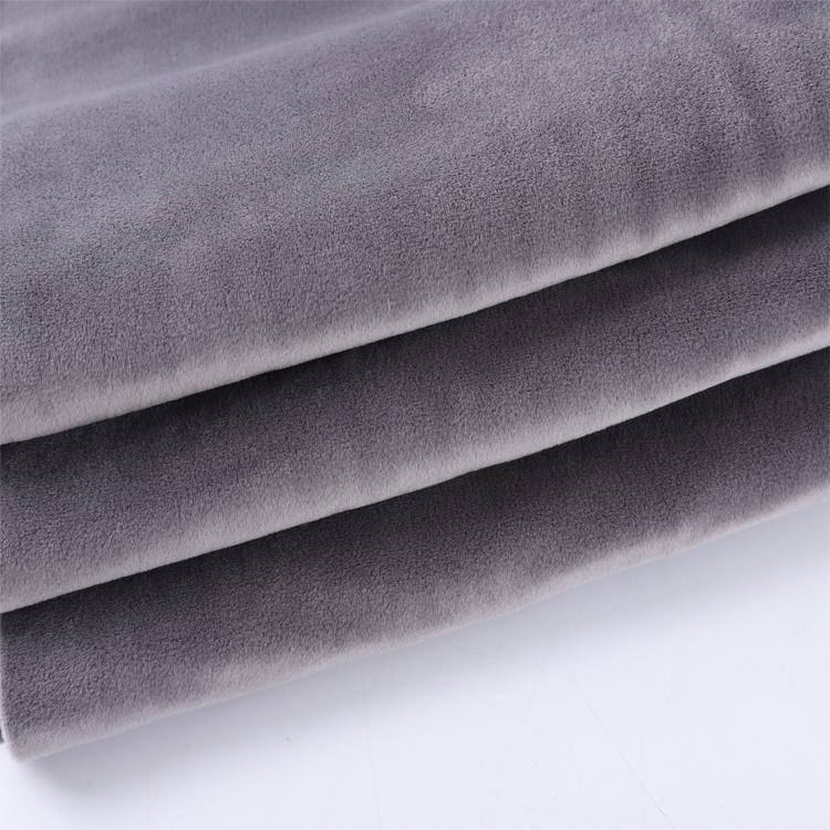 Good texture double sided 100% polyester knit super and soft plush fabric for making toys