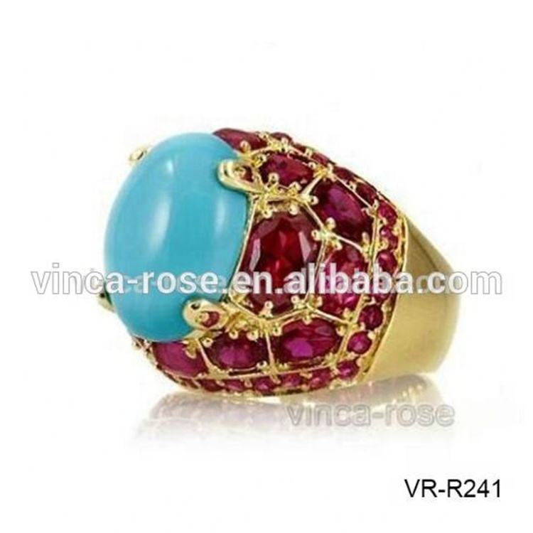 Coroful gemstone fashion masonic gold plated finger rings photos in pakistan