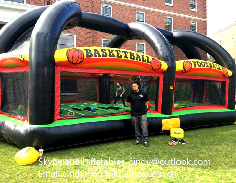 Commercial Grade All in one Sports Arena inflatable game,Inflatable Basketball Shooting Arena for sale