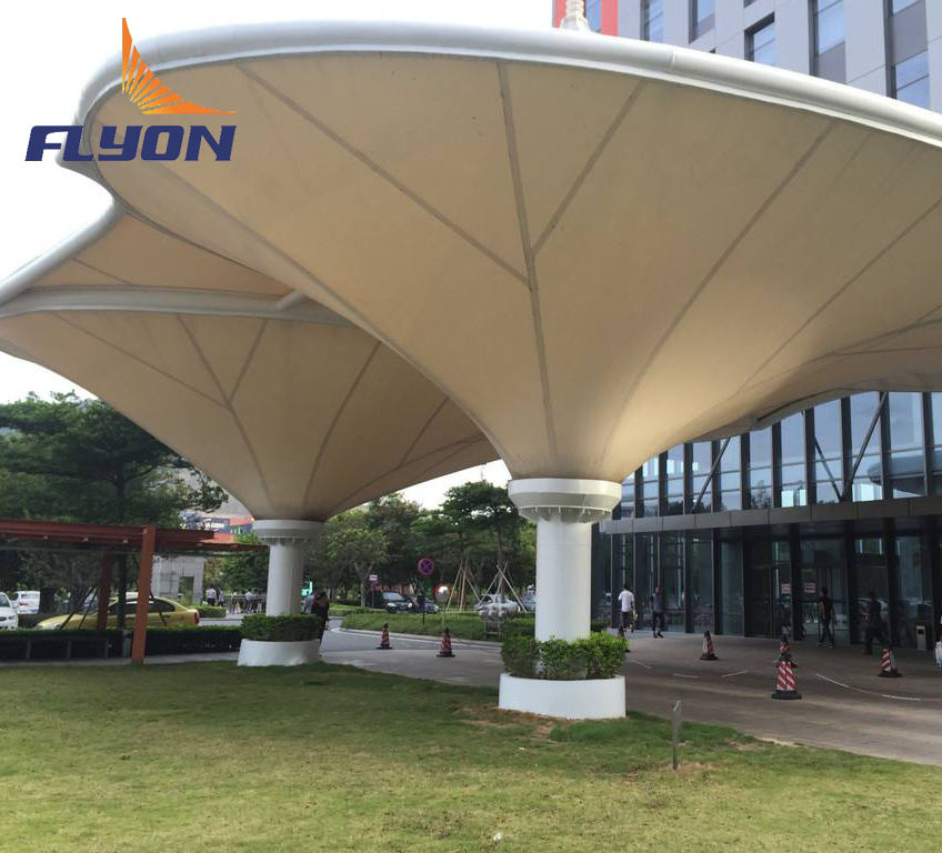 Stretch Fabric Membrane Architecture Roof Shade Hotel Tent Tensile Structure