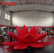 Giant inflatable lotus flower for outdoor events decoration