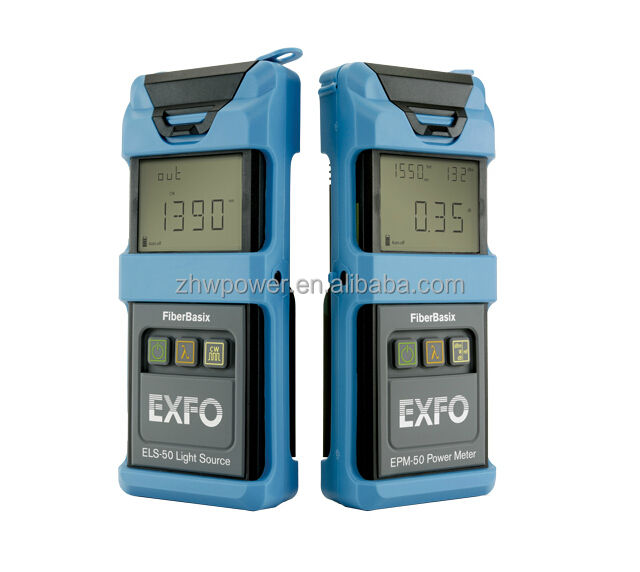 Optical Power Meter ELS-50 Sumber Cahaya, serat Optik Sumber Daya Cahaya Meter Exfo SM-MM OTDR 850/1300/1310 Nm 24/25/32 /30dB