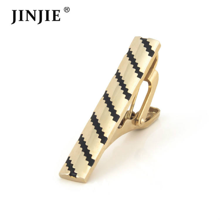 Classical short style gold and silver plated brass tie bar for sale and jewelry tie pin gift for men