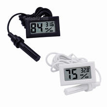 Digital LCD Aquarium Fridge Freezer Thermometer Hygrometer water Humidity Temperature Meter gauge FY-12 with sensor