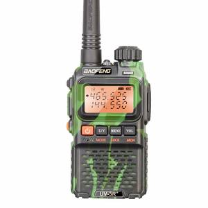 Baofeng Mini UV-3R + plus taxi 2 voies radio BAOFENG double bande radio uv-3r plus camo 136-174/400 -470 MHz sans fil talkie-walkie