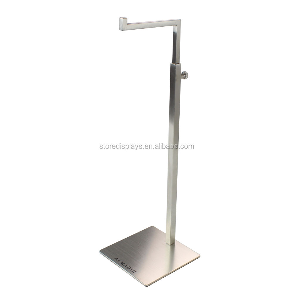 Wholesale Metal Brushed Hanging Bag Handbag Hanger Rack Holder Display Stand for Handbag Bag