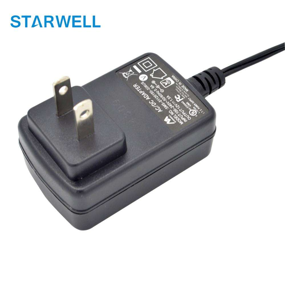 SMS-01120100-S04US 12V 1A 12W Medical Power Supply IEC 60601
