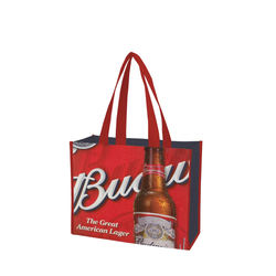 Promotional logo 30g  grocery tote shopping eco non woven bag