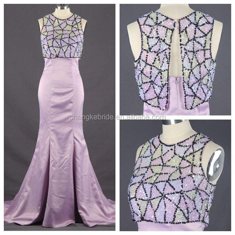 Menakjubkan beaded sleeveless elegant purple sale beaded brasil evening dress 2016