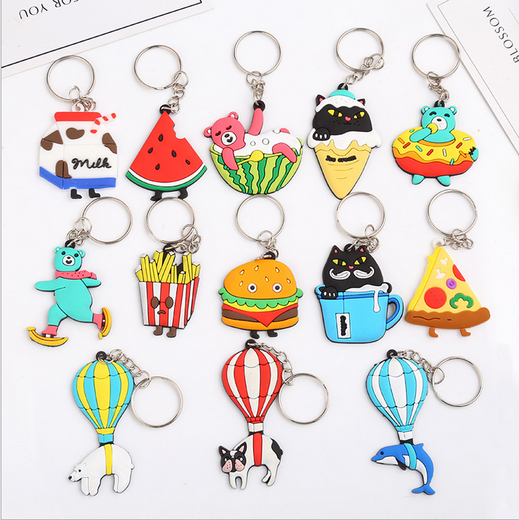 Animal Cartoon Polar Bear Food Keyring Key Chains Cover Bag Car Keychain