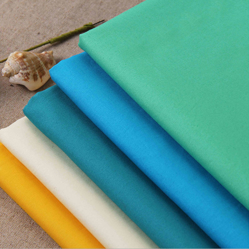 Multi Colors 100 cotton fabric 40*40 133*72 125gsm Poplin Fabric for Shirt,Home Textile,Industry