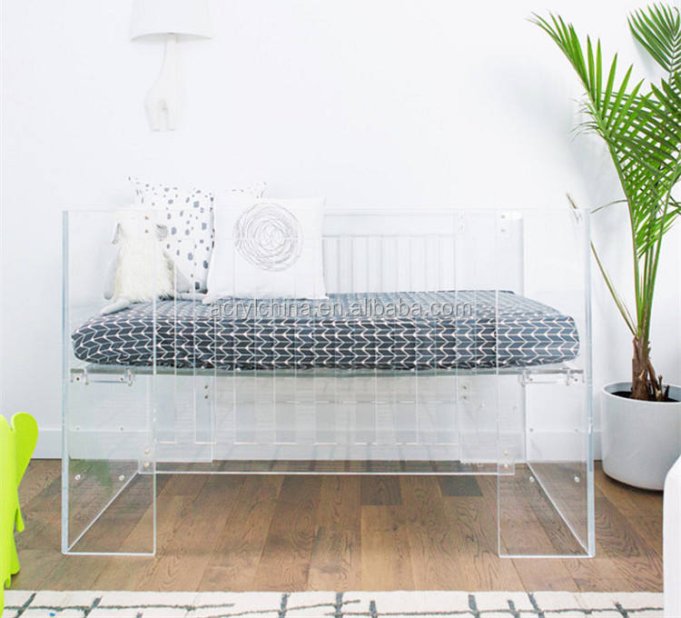 HOT sales High quality clear acrylic baby crib