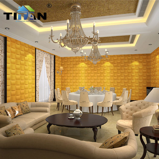 500mm*500mm Rich Color Household Wallpaper 3d pvc Panel Board