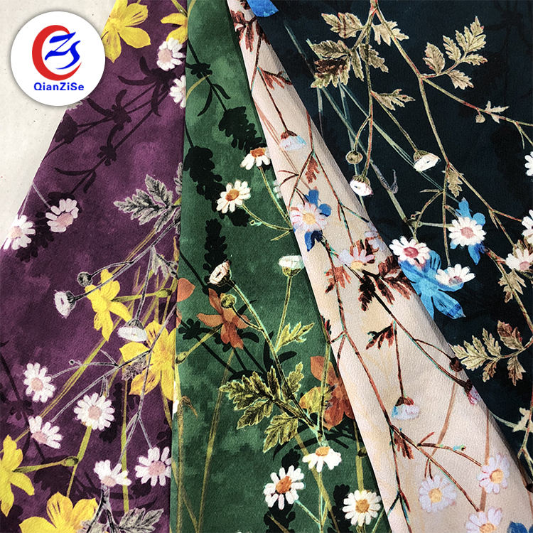 Designer fabric supplier wholesale printed french silk chiffon materials fabric