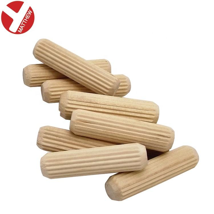 Fluted Wooden Dowel Pin for Furniture Fitting