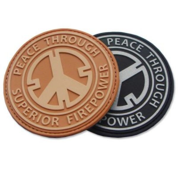 Tactical silicone badges soft pvc patch rubber for backpack