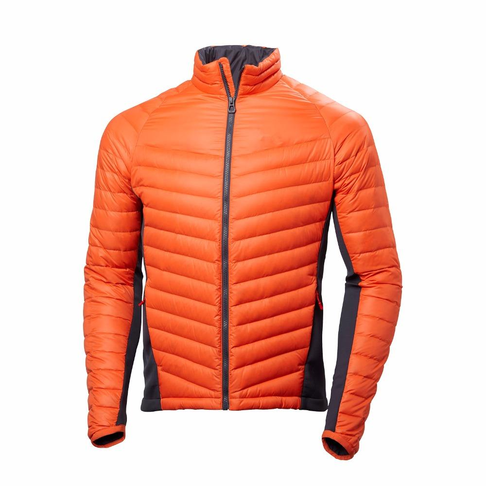 High Quality Fully Microlight Rip Stop Fabric Face Down Jacket Mixed With Breathable Softshell Side Panels