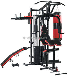 Home gym equipment multi station bench machine squat hand weights set pull up excercise