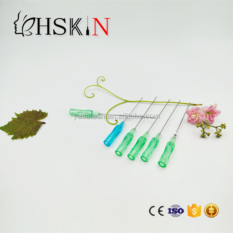 High Quality CE Certificate cog 19g*100mm thread lift face pdo with blunt cannula needle