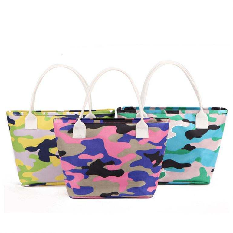 Promotional fashion fancy pattern print tote shopping bag mother baby care nappy changing bag