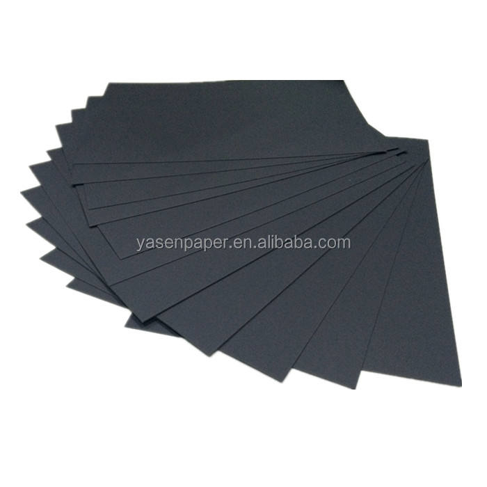 double side coated black cardboard rolls of paper