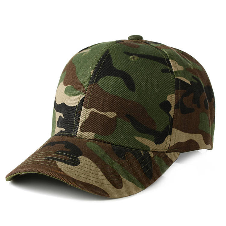 Promotional cheap 6 panel plain wilderness army camouflage hunting hat