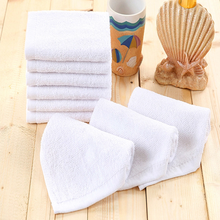 Factory Custom Wholesale White WashCloth 100% Cotton 35*35cm Microfiber Face Cloth Towels