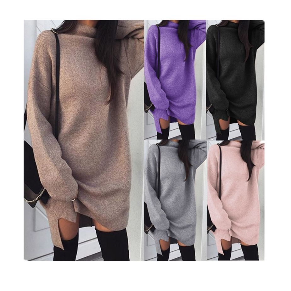 custom knit fabric ladies fancy dresses women chenille angora oversized sweater