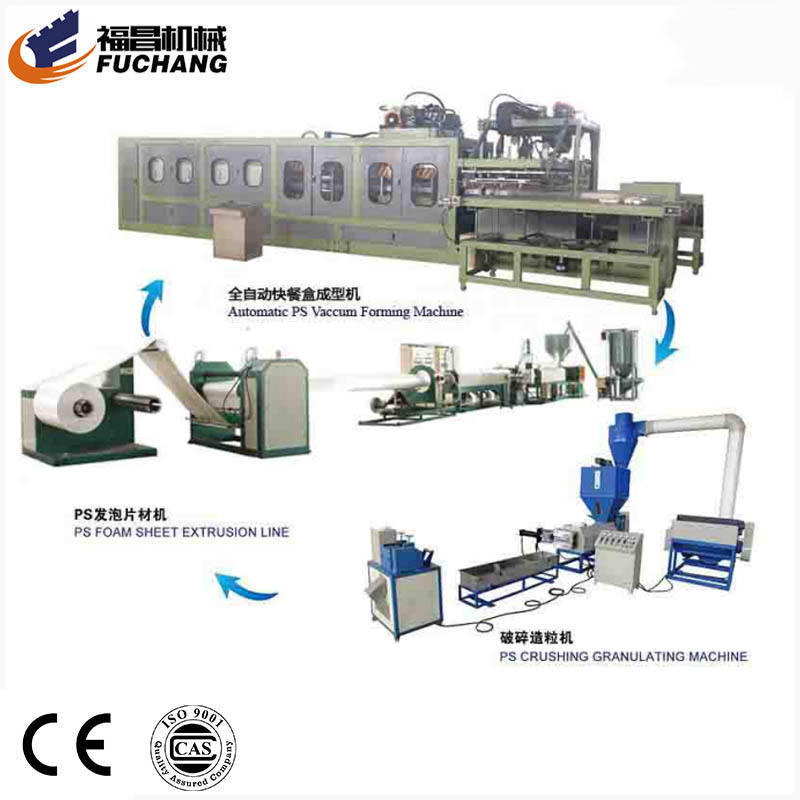 New condition and PS fast food box product type disposable foam plate dishes making machine
