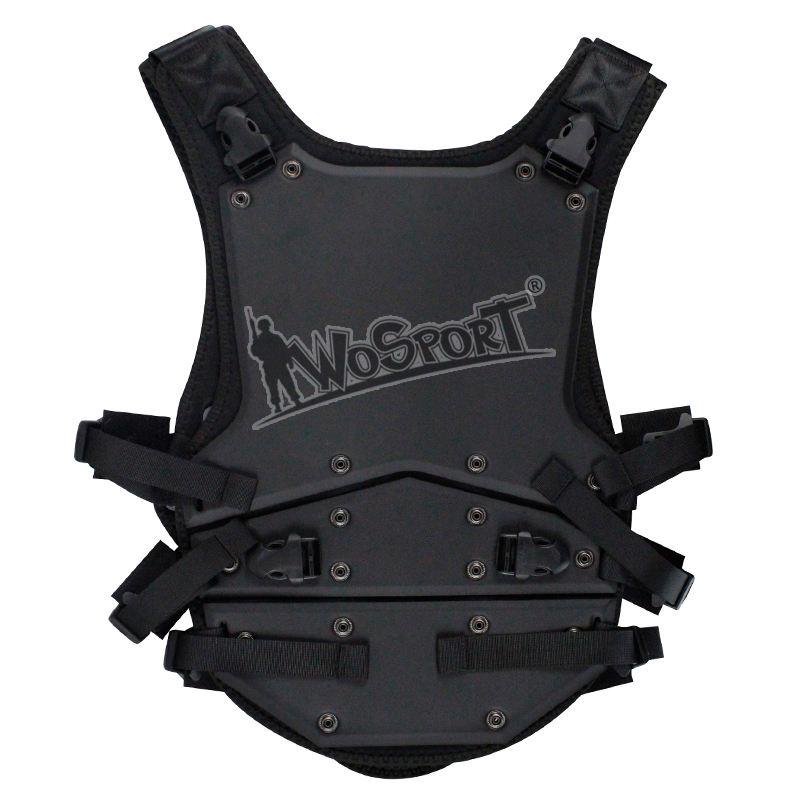 WoSporT Swat táctico militar chaleco Negro estilo único para la formación del ejército caza Airsoft Paintball combate armadura d