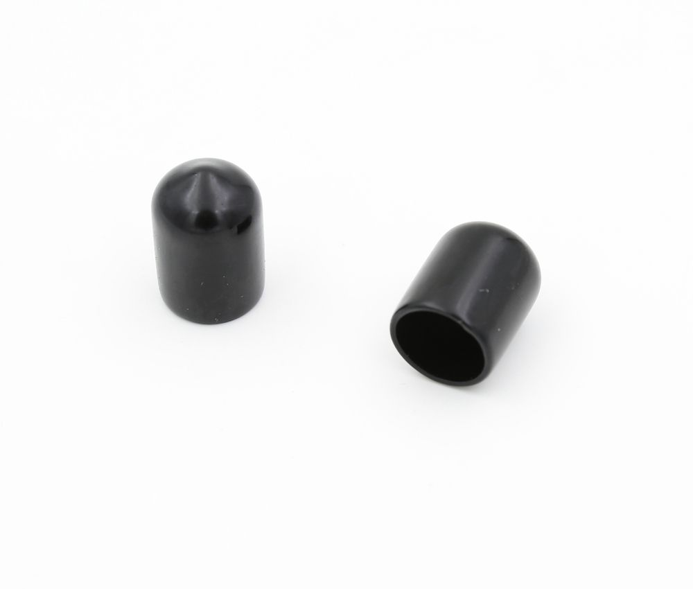 Round soft pvc end cap black ID 10mm, length 20mm wall thickness 1mm CS-10*20