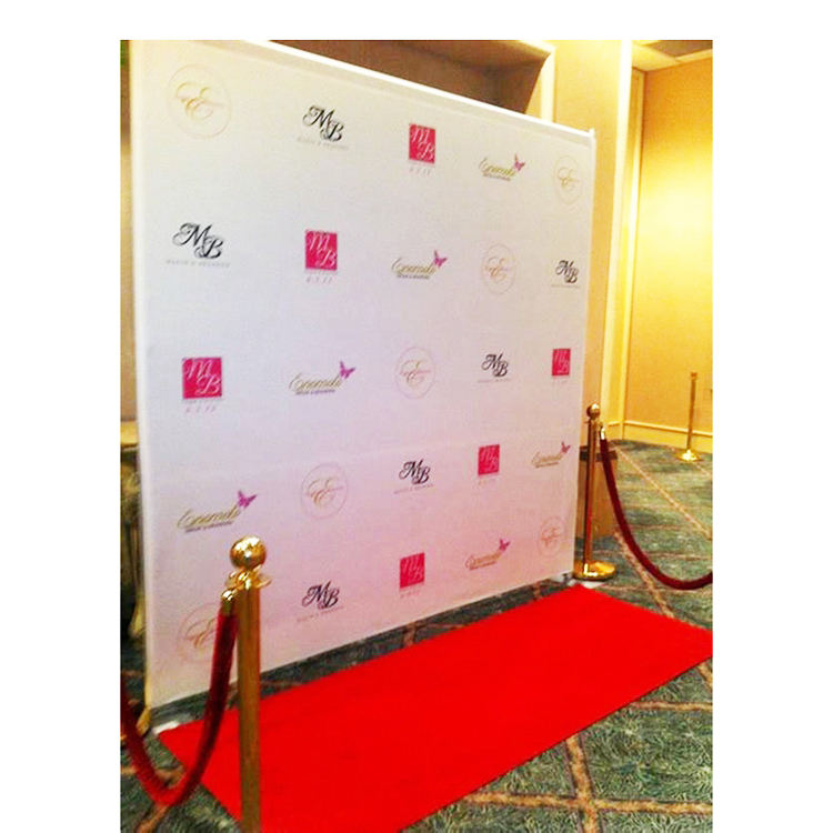 OEM High Quality Custom Aluminum Red Carpet Adjustable Pop Up Stage Photo Backdrop