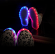 new style musical note flash light unisex skateboard sport lovers rechargeable couple LED shoes