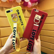 Hard PC Shell Back Cover Belt Pendant Cell Phone Case For iPhone 7 7Plus 6 6s Plus Plastic Phone Casse Covers Fundas
