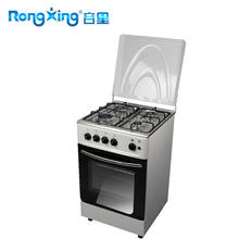 free standing gas oven with enameled pan