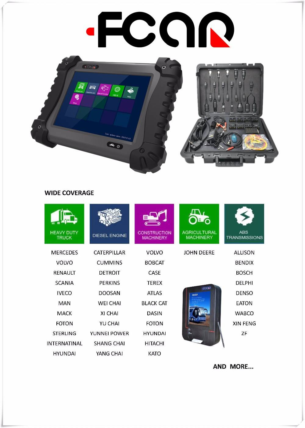 auto professional universal diagnostic Isu zu truck& heavy truck ABS, Transmission system