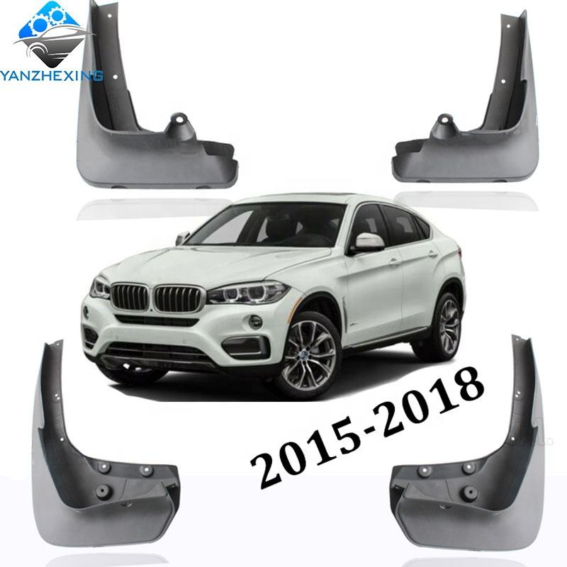A-Premium Splash Guard Mud Flaps For BMW X6 2015-2018 F16 Series Front and Rear 4-PC Set