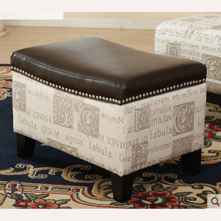 Living room furniture European style made in China antique wooden storage bench