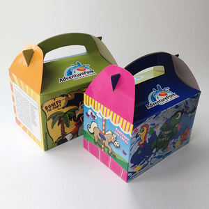 Customized Printing Paper Kids Meal Toy gift Gable Box