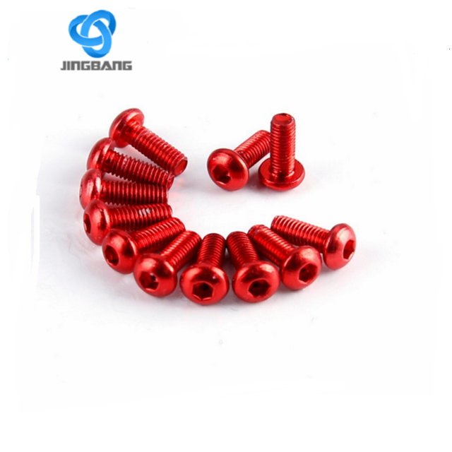 red colored customize anodized aluminum M4 bolt,bolts wheels
