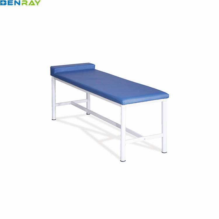 BR-ECB02 Stainless Powder-coated Steel Back Adjustable Examination Table Hospital Couch Price