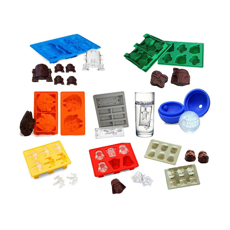Amazon Hot Selling Silicone Ice Cube Tray and Silicone Ice Maker Star Shape War for Chocolate Cake Mold