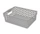 light gray small pp plastic storage basket